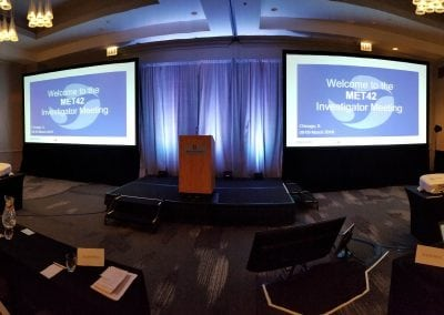 Panoranimc of Final Set for Large Meeting - Dallas Fort Worth